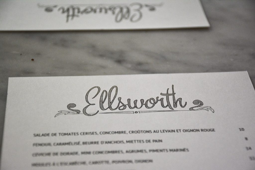 ellsworth restaurant paris