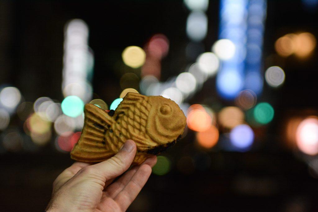 voyage tokyo nourriture kawaii taiyaki