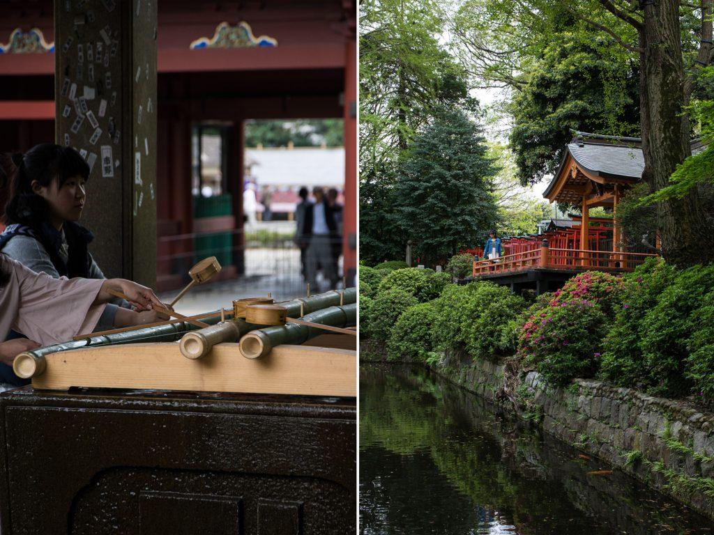 nezu jinja dans le quartier de Yanaka à Tokyo