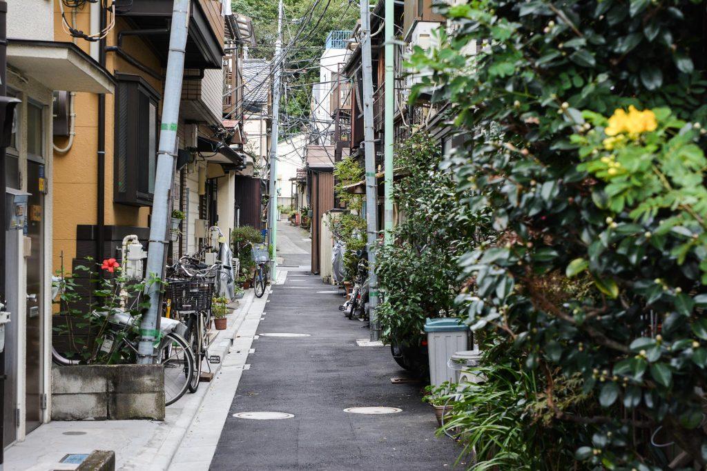 ruelles dans le quartier de Yanaka à Tokyo