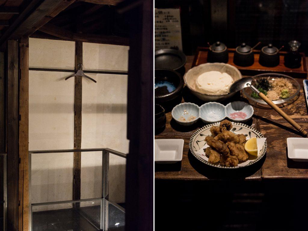 les plats servis dans l'izakaya Galali à Tokyo
