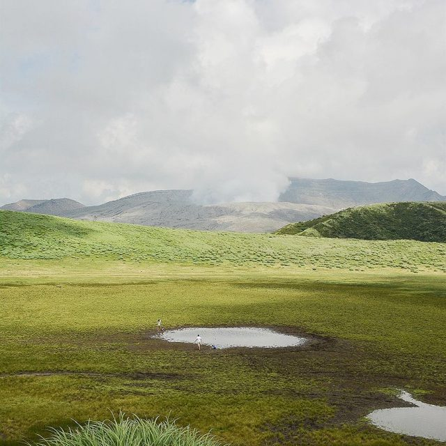 Ltape suivante cest la rgion du volcan Aso Le paysagehellip
