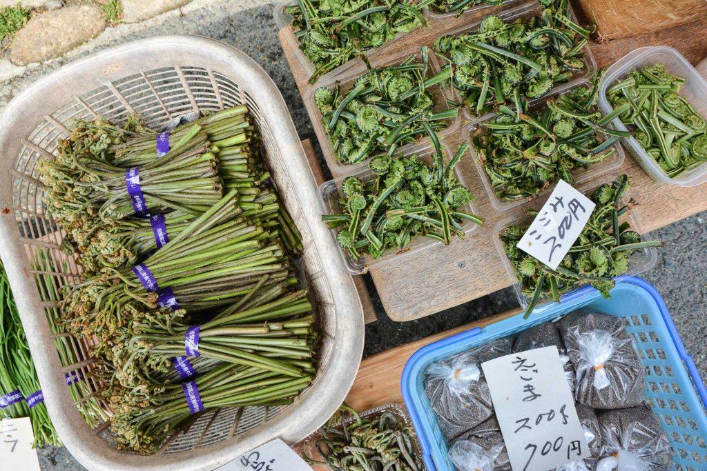 le marché matinale de Takayama le long de la rivière Miyagawa