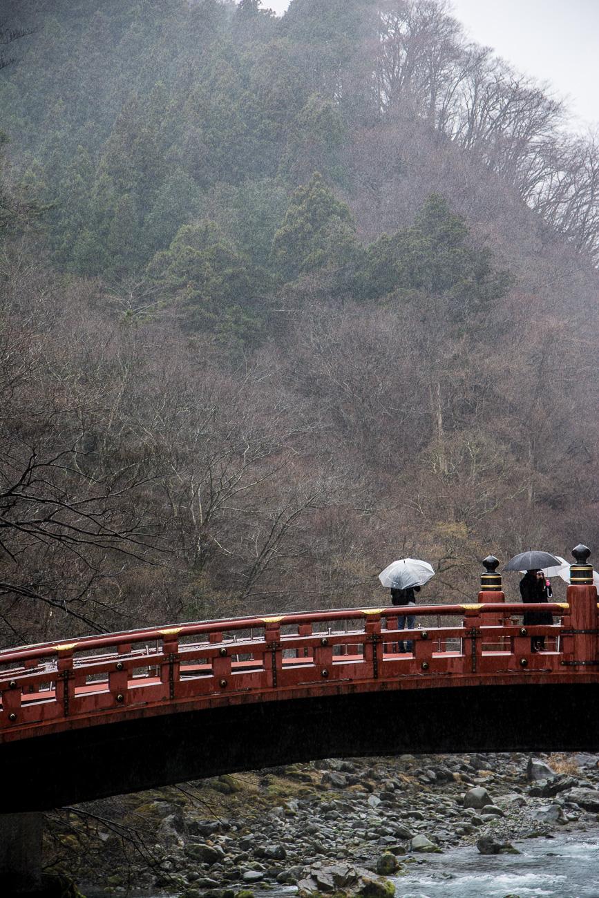 Le pont Shin-Kyo à Nikko au Japon près de tokyo
