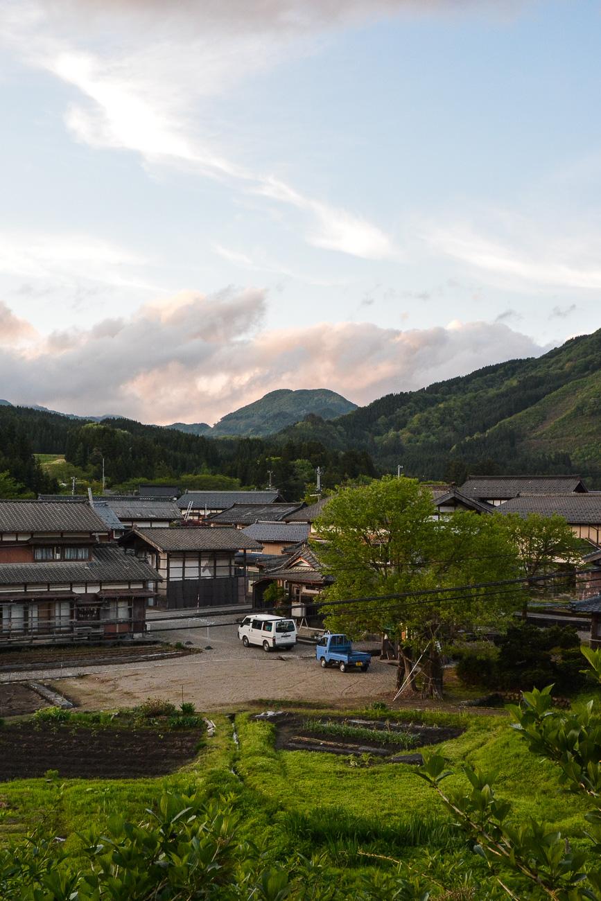 Le petit village dans la préfécture de Niigata au Japon