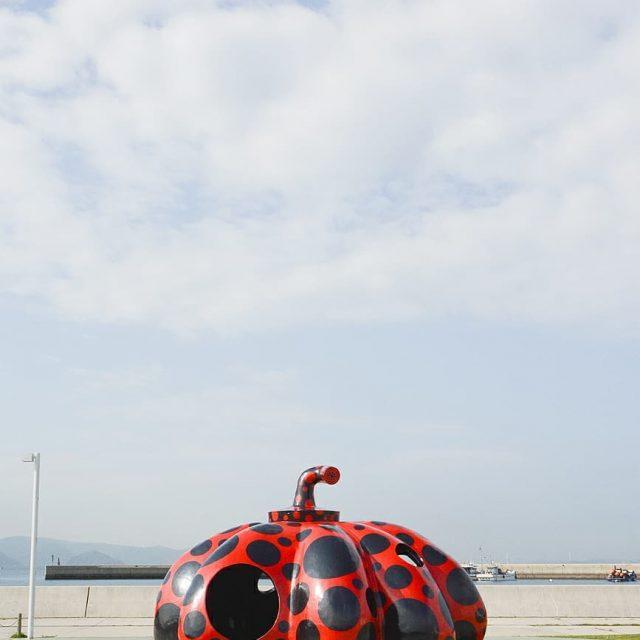 Red Pumpkin by Yayoi Kusama in Naoshima Island  hellip