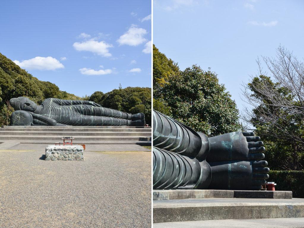 Le Bouddha couché de Mantokuji près de Nokogiriyama dans la prefecture de Chiba au Japon