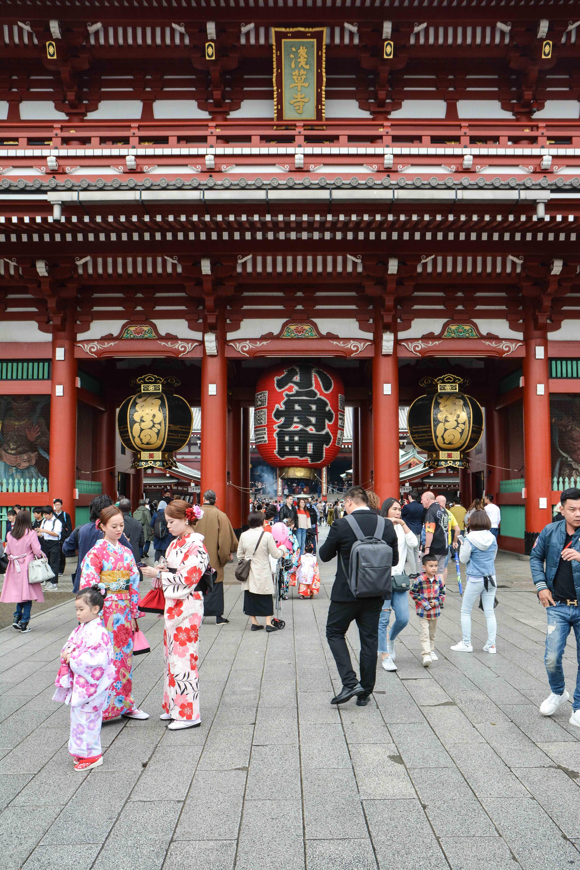 voyage à tokyo, à senso ji, dans le quartier d'asakusa