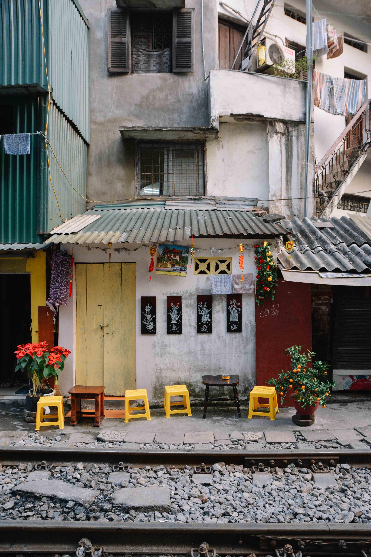 Train Street à Hanoi au Vietnam