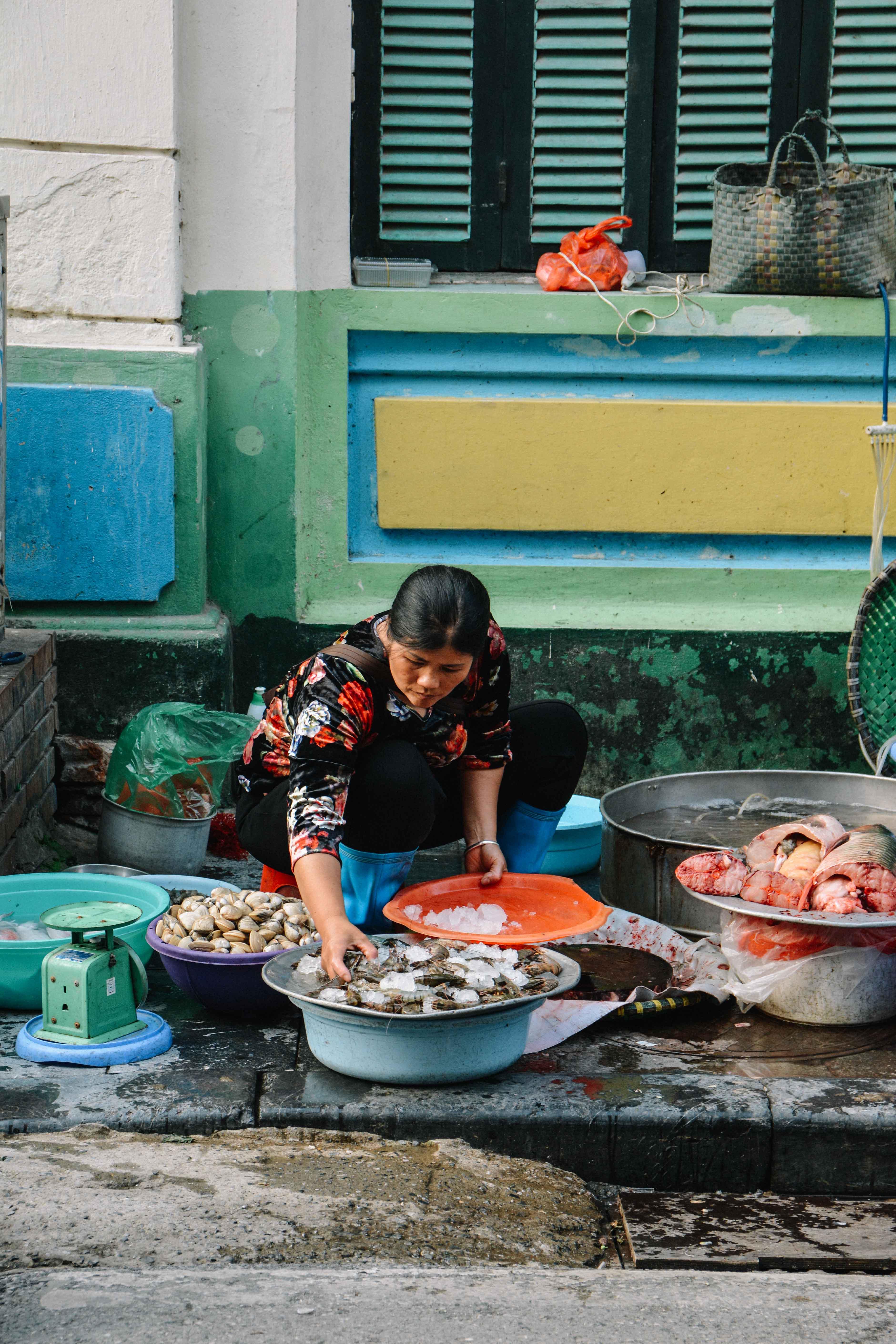 le marché de Hanoi, au Vietnam