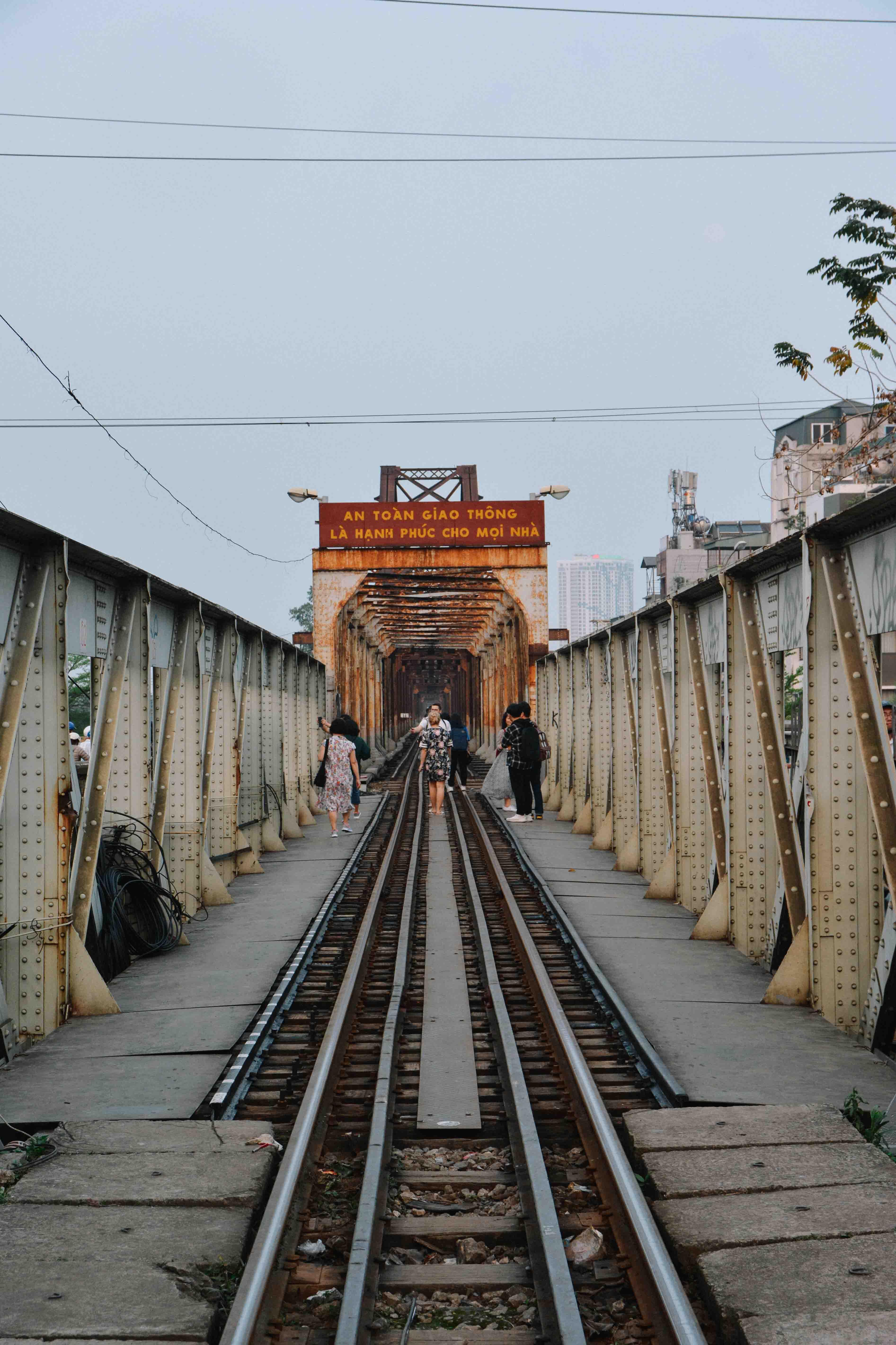 Le Pont Long Biên à Hanoi au vietnam