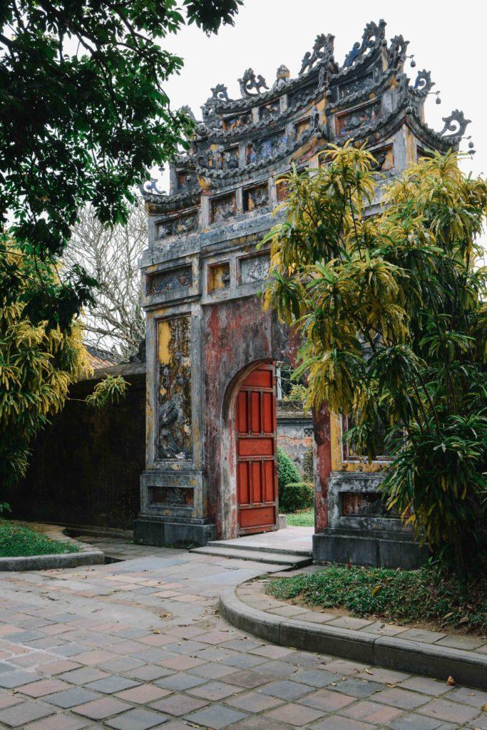 la cité impériale à Hué au Vietnam